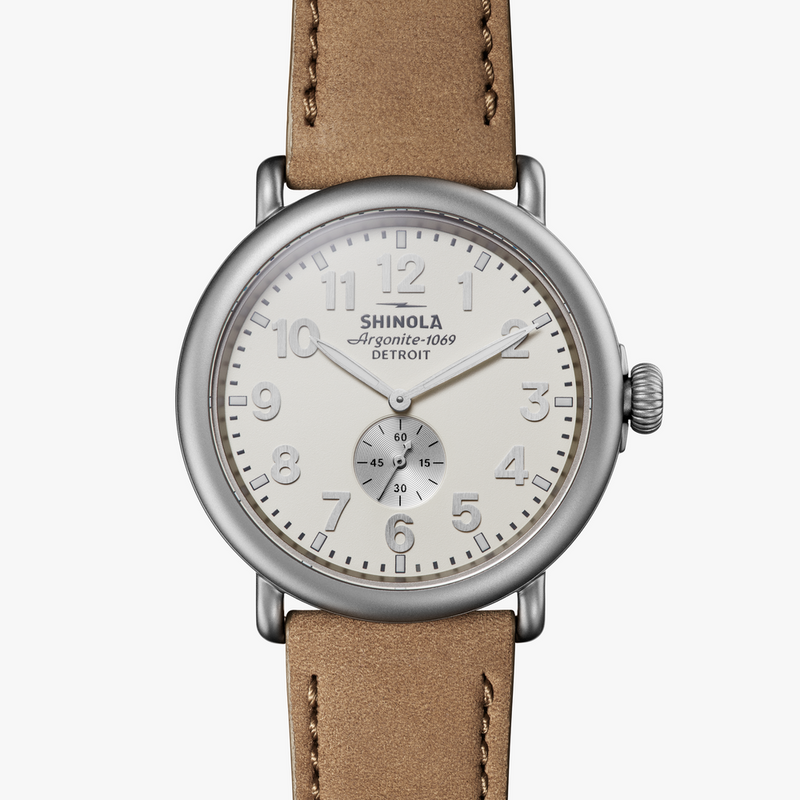 Shinola 'The Runwell' 47mm Watch with Ivory Dial