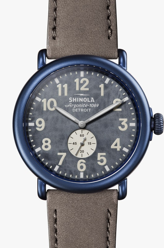 Shinola 'The Runwell' 47mm Watch with Blue Dial