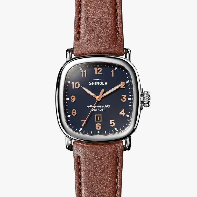Shinola 'Guardian' 41.5mm Watch with Midnight Blue Dial