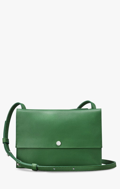 Shinola Accordion Crossbody Bag in Cactus Green