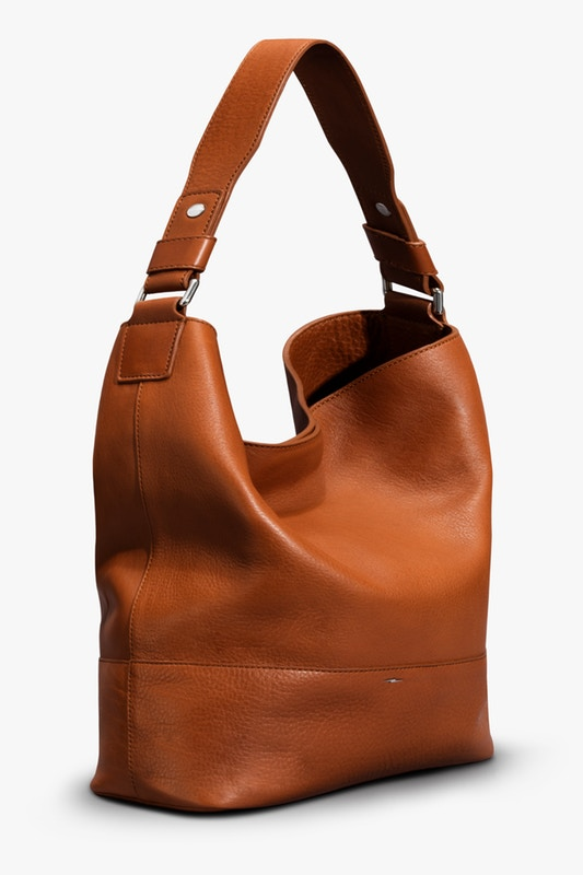 Shinola Relaxed Hobo Bourbon Leather Handbag