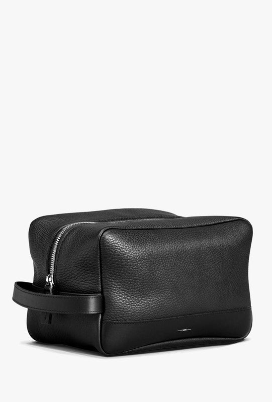 Shinola Zip Travel Kit in Black Leather