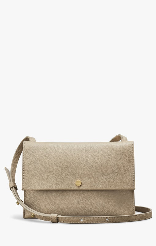 Shinola Accordion Crossbody Bag in Stone