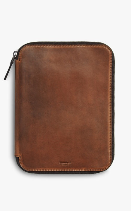 Shinola Tech Portfolio in Medium Brown Navigator Leather