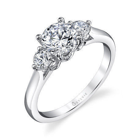 Sylvie Classic 3 Stone Engagement Ring