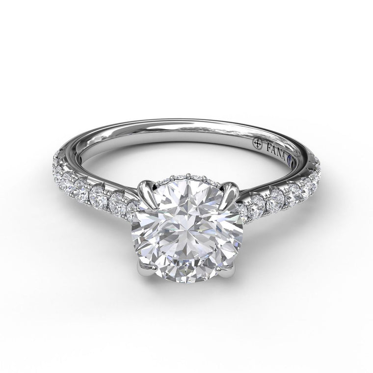 FANA 14k White Gold Engagement Ring with .36ctw Diamonds
