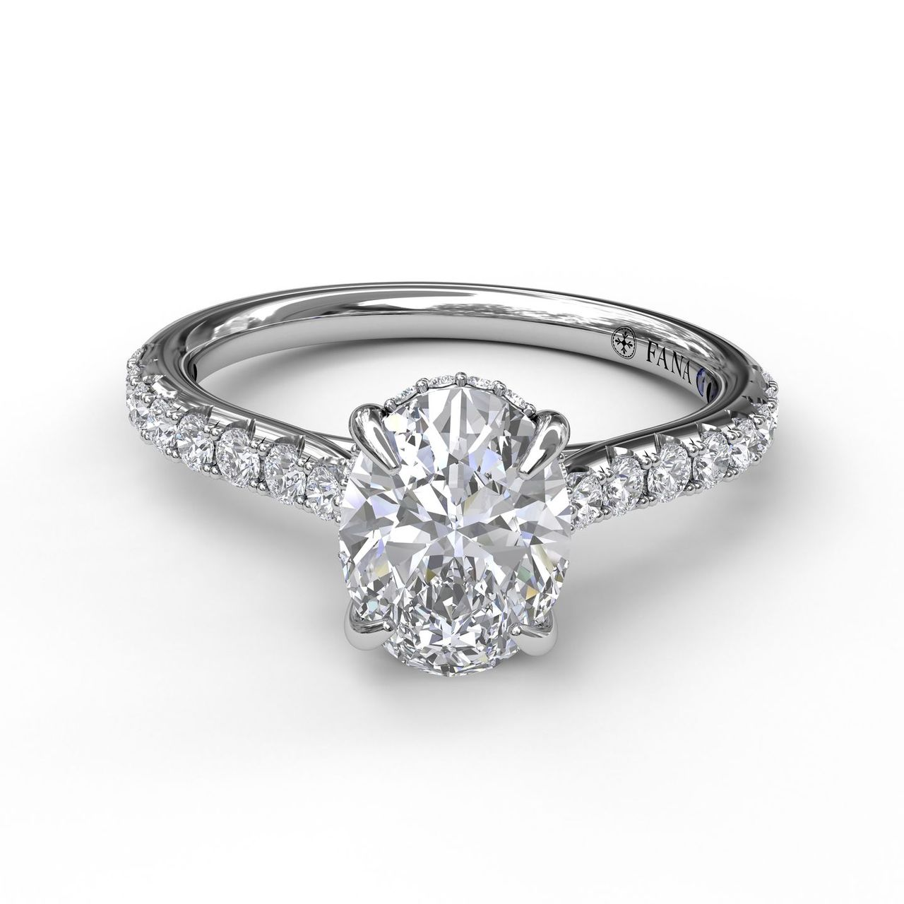 FANA 14k White Gold Engagement Ring with .39ctw Diamonds