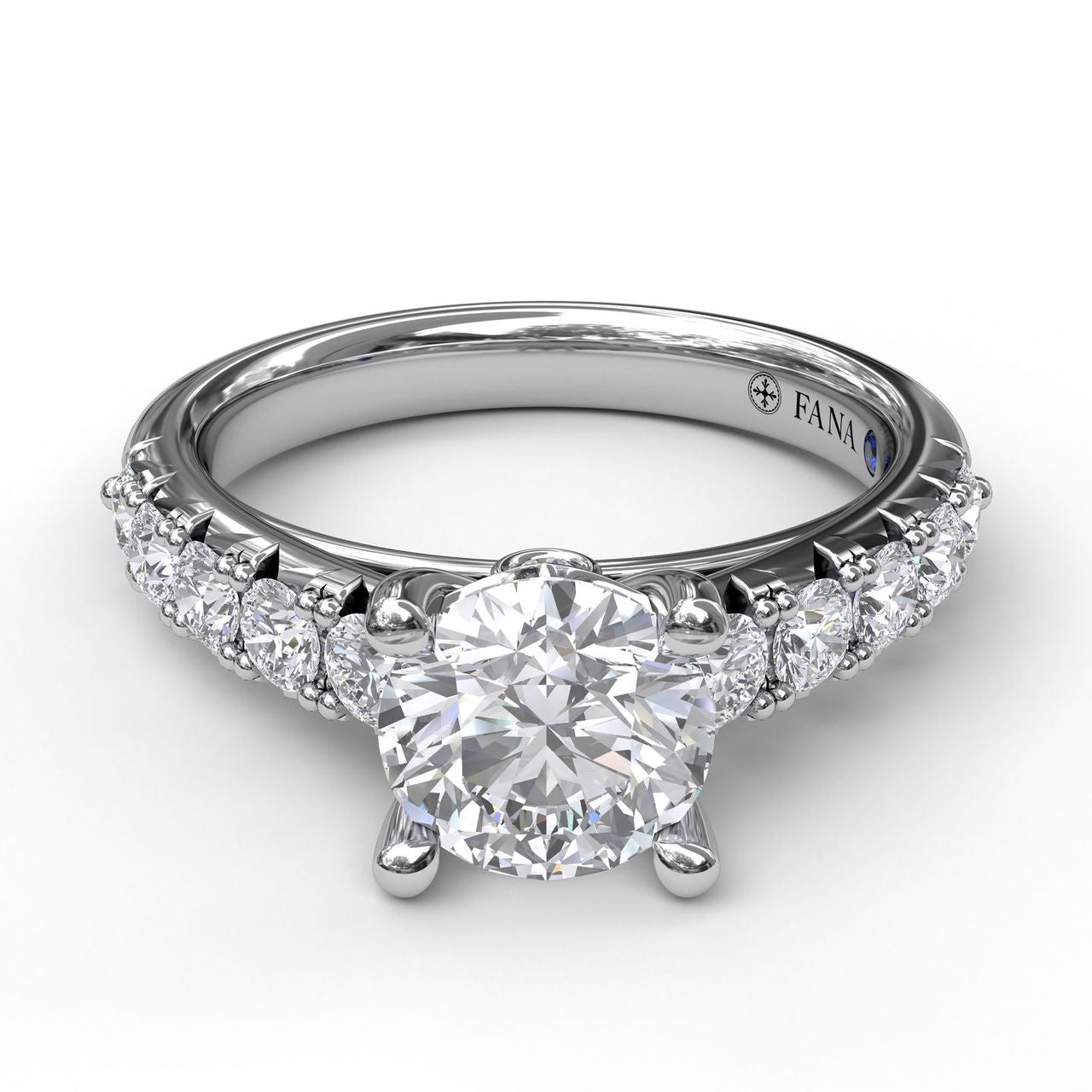 FANA 14k White Gold Engagement Ring with .58ctw Diamonds