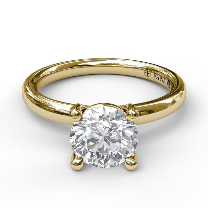 FANA 14k Yellow Gold Solitaire Engagement Ring