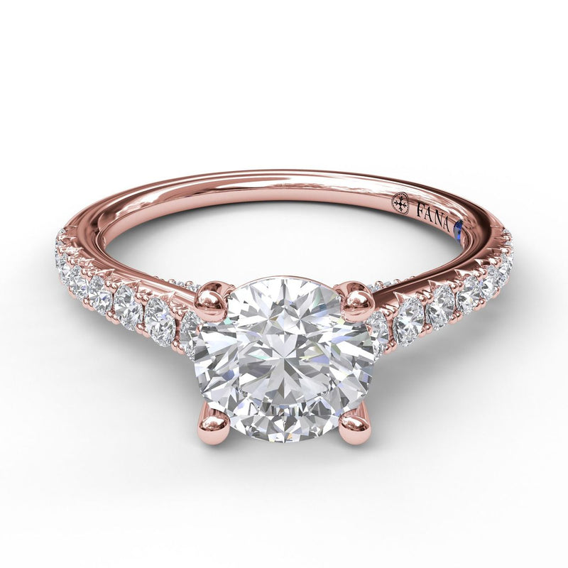 FANA 14k Rose Gold Engagement Ring with .36ctw Diamonds