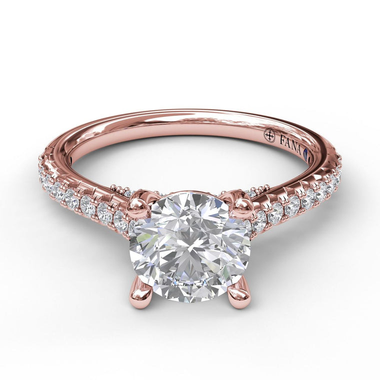 FANA 14k Rose Gold Engagement Ring with .32ctw Diamonds