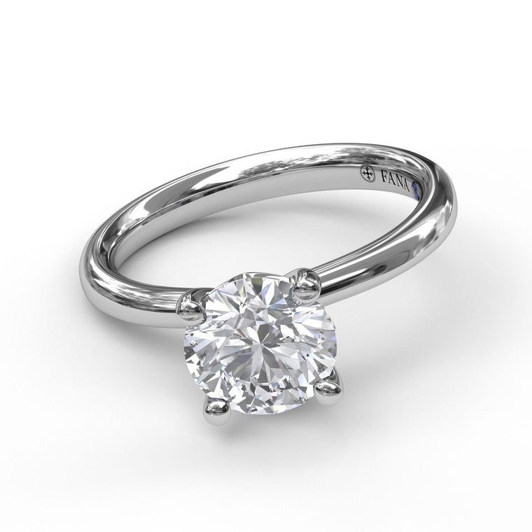 FANA 14k White Gold Solitaire Engagement Ring