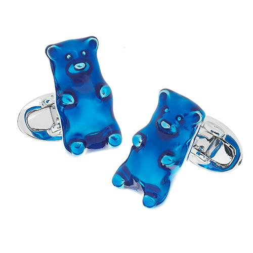 Jan Leslie Blue Gummybear Cufflinks