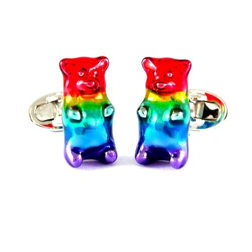 Jan Leslie Rainbow Gummybear Cufflinks