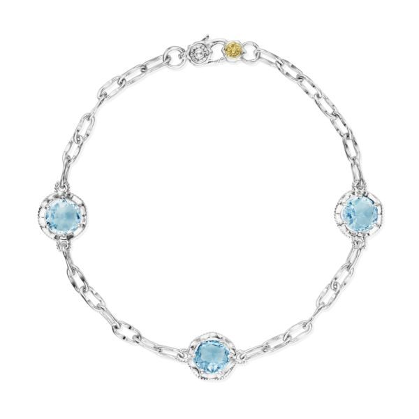 Tacori 'Crescent Crown' Sky Blue Topaz Bracelet