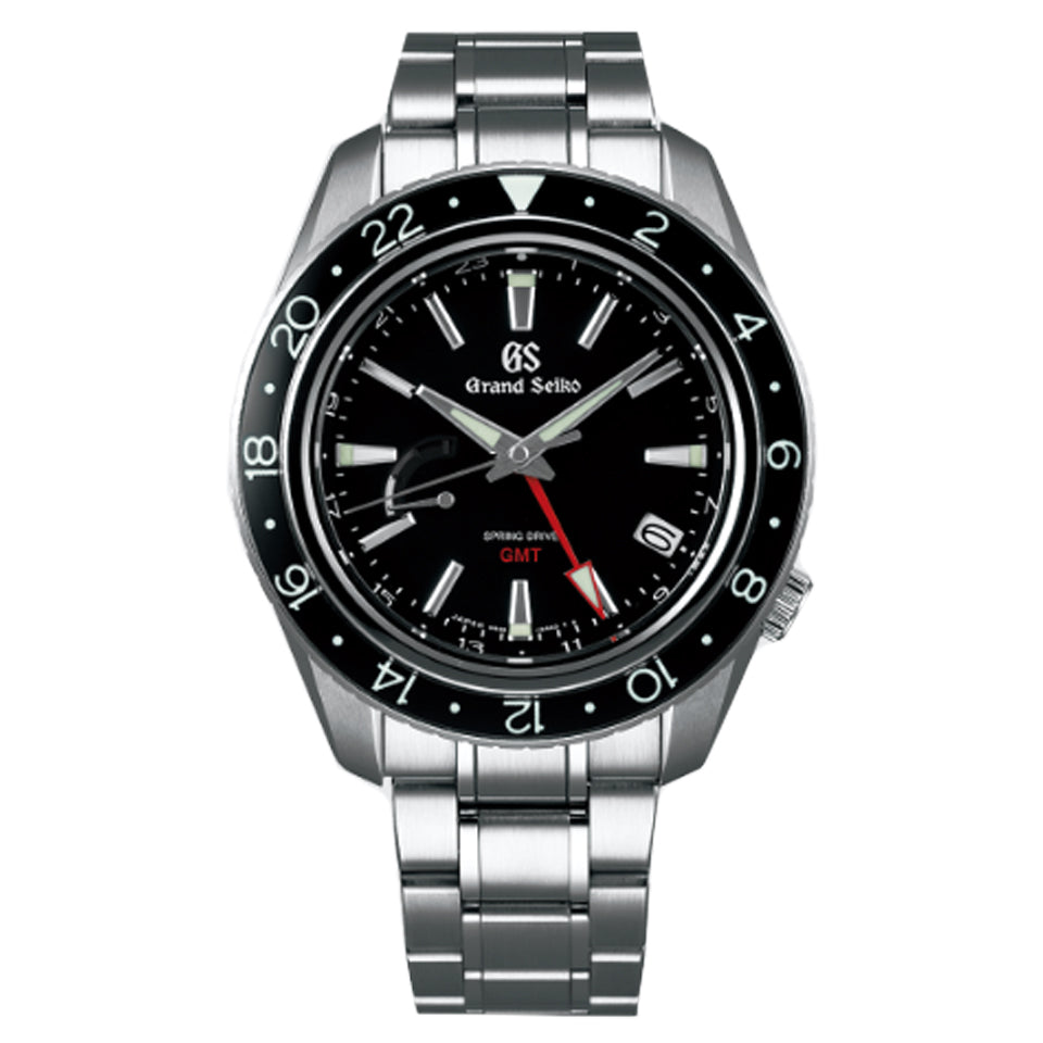 Grand Seiko 9R Spring Drive 41mm Watch with Black Dial SBGE201