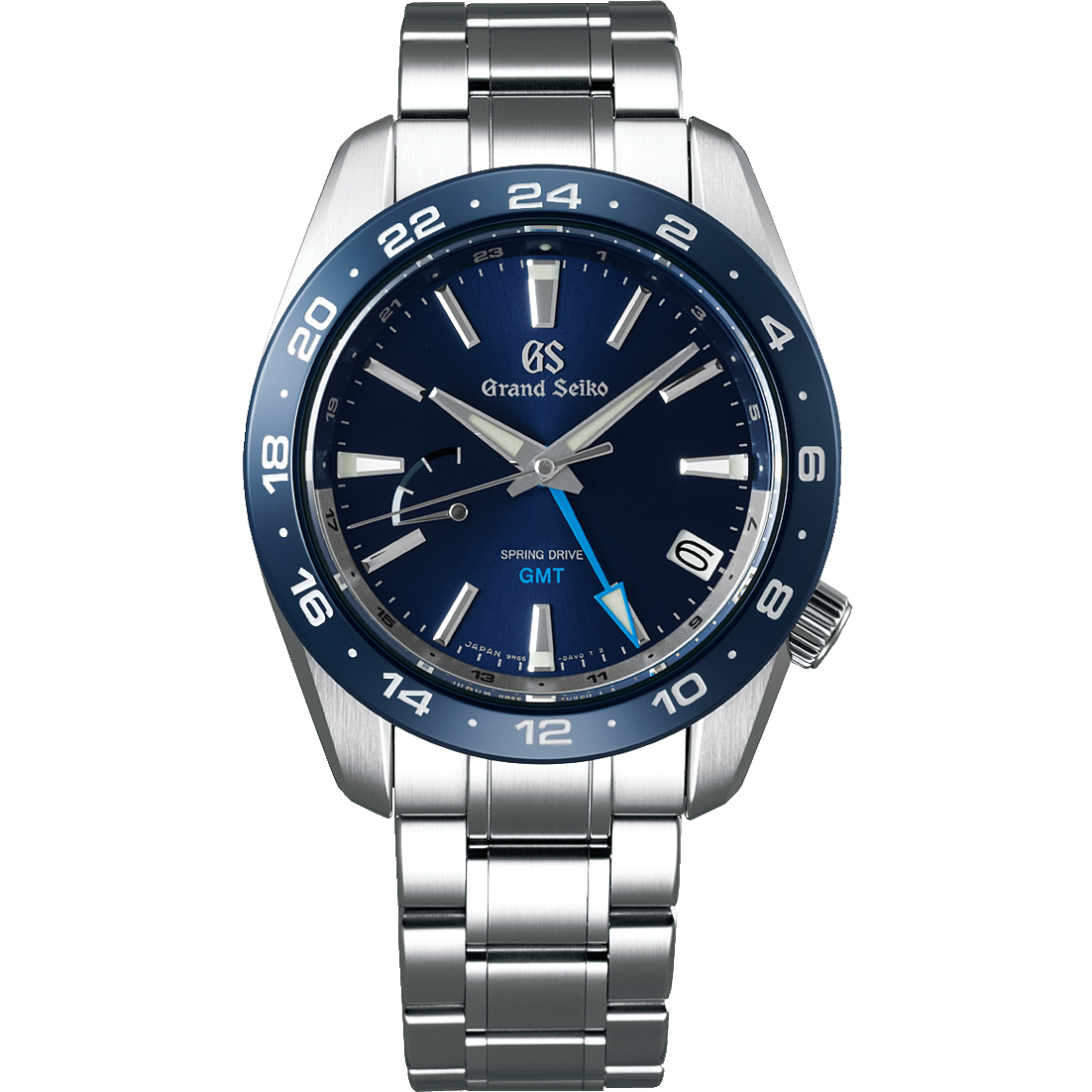 Grand Seiko Spring Drive GMT with Blue Dial