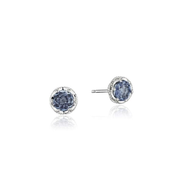 Tacori 'Crescent Crown' Petite London Blue Topaz Studs