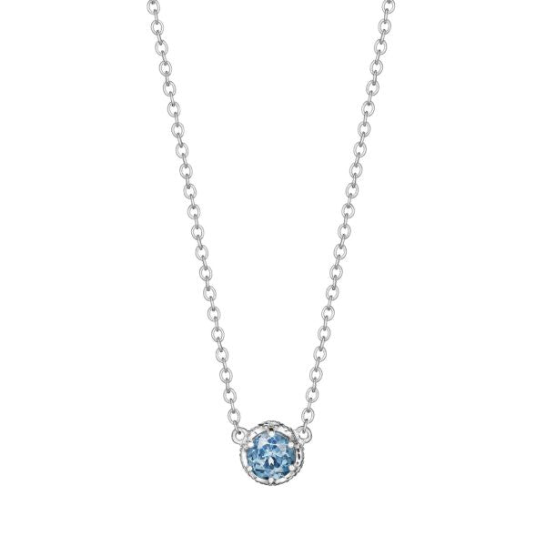Tacori 'Crescent Crown' London Blue Topaz Necklace