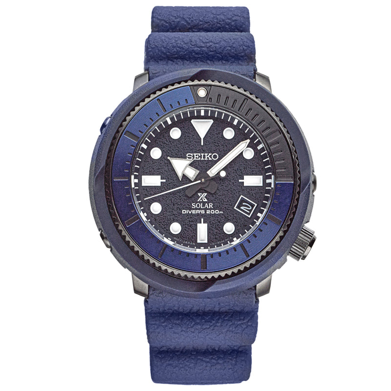 Seiko Prospex Solar Diver Watch with Blue Dial