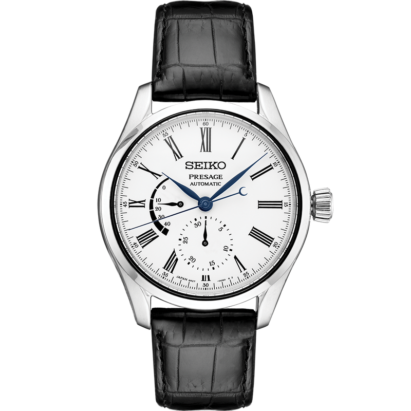 Seiko Presage Automatic Watch with White Enamel Dial
