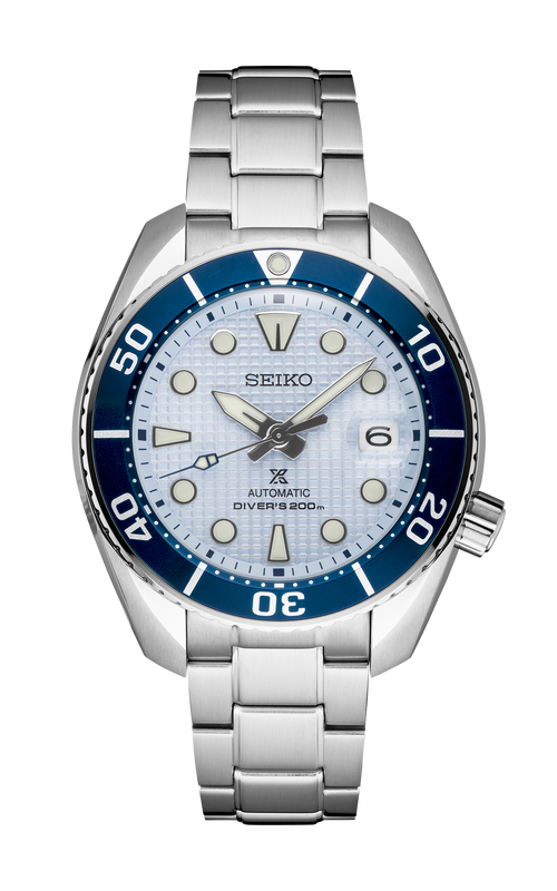 "Seiko Prospex USA Exclusive ""Ice Diver"" Sumo Automatic Watch with Blue Dial"