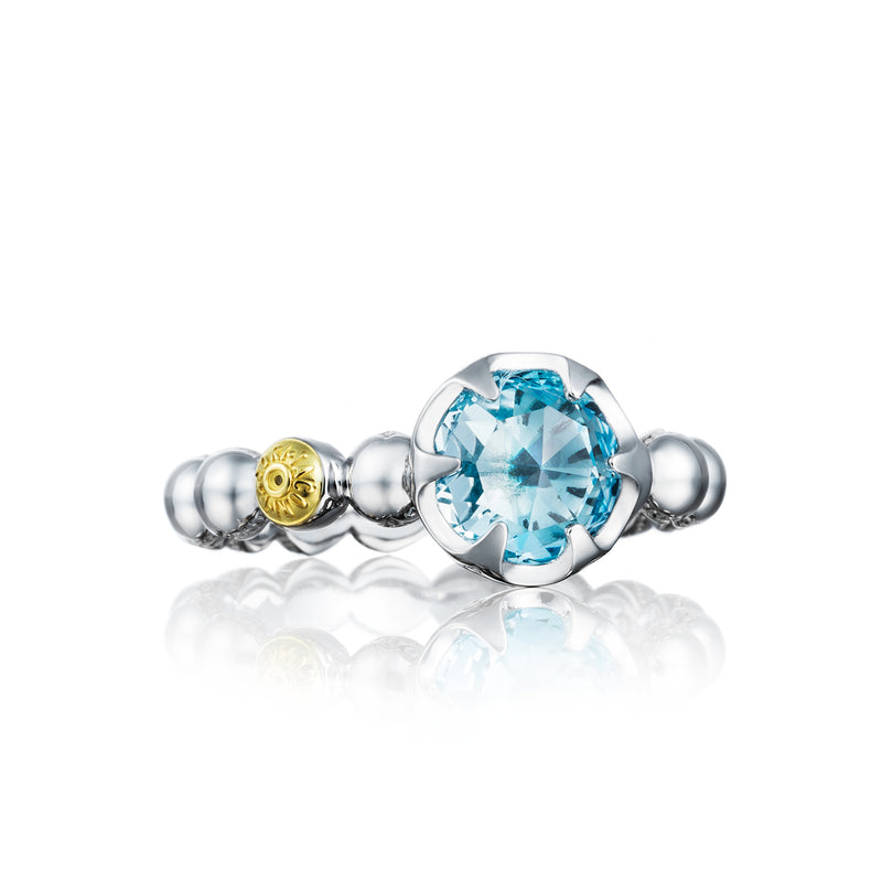 sky gold ring blue white rings topaz