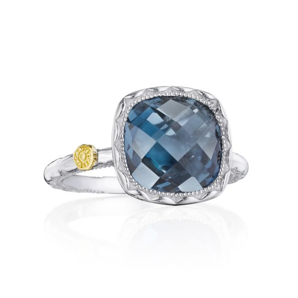 Tacori 'Crescent Embrace' London Blue Topaz Ring