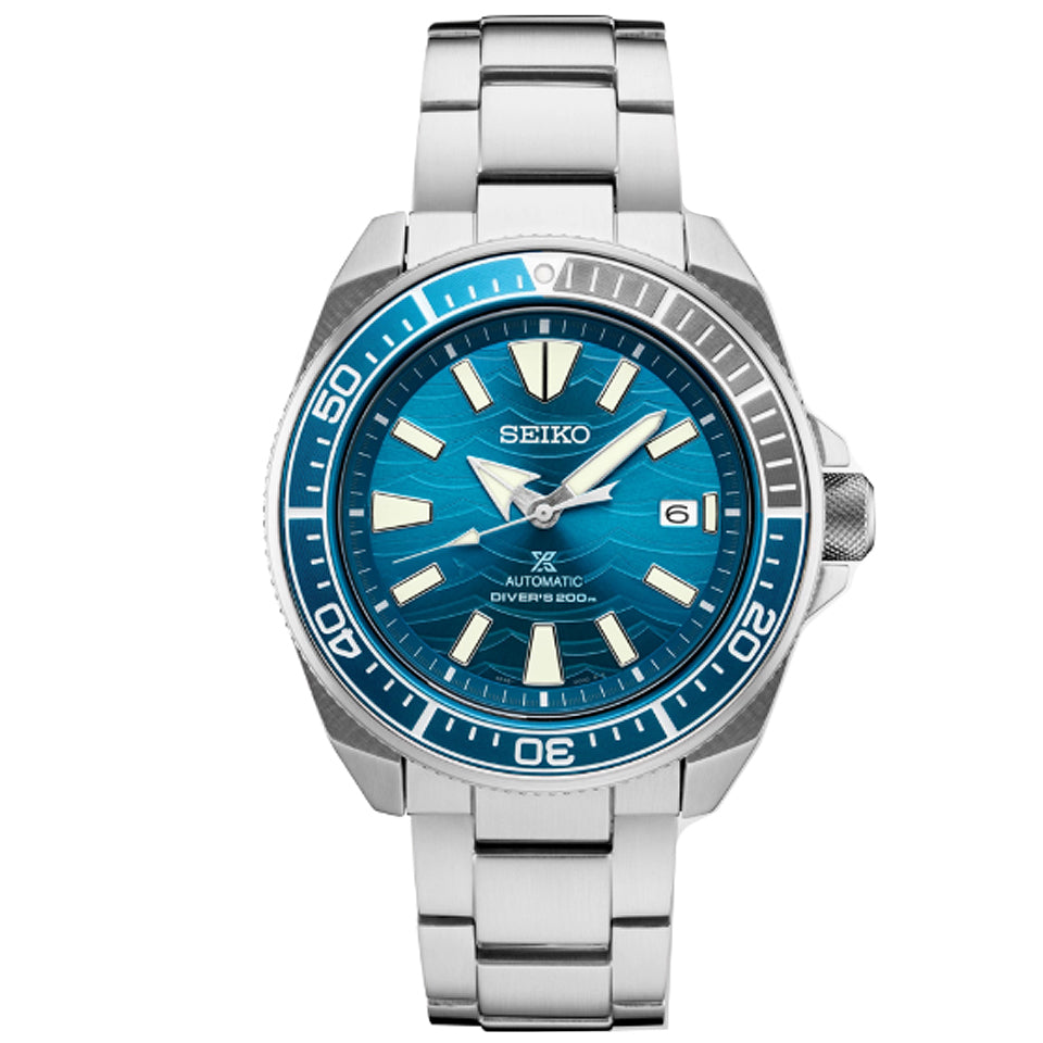Seiko USA Prospex Special Edition Divers Watch with Blue Wave Dial