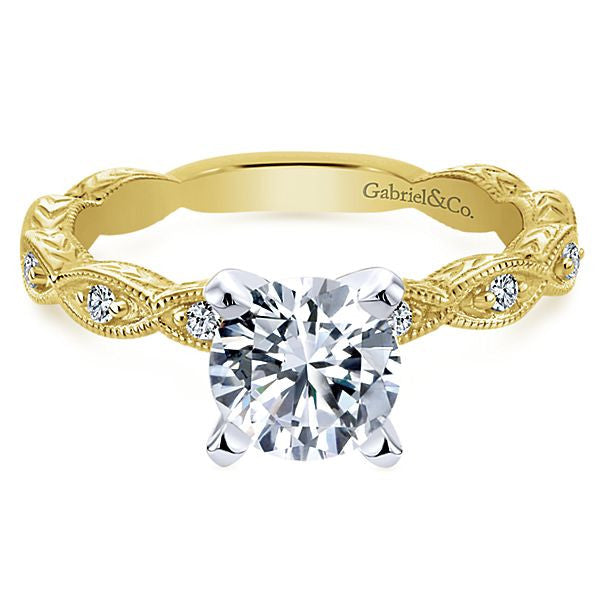 Gabriel & Co 'Sadie' Vintage Style Engagement Ring