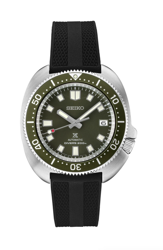 Seiko Prospex 1970 Willard Watch with Green Dial