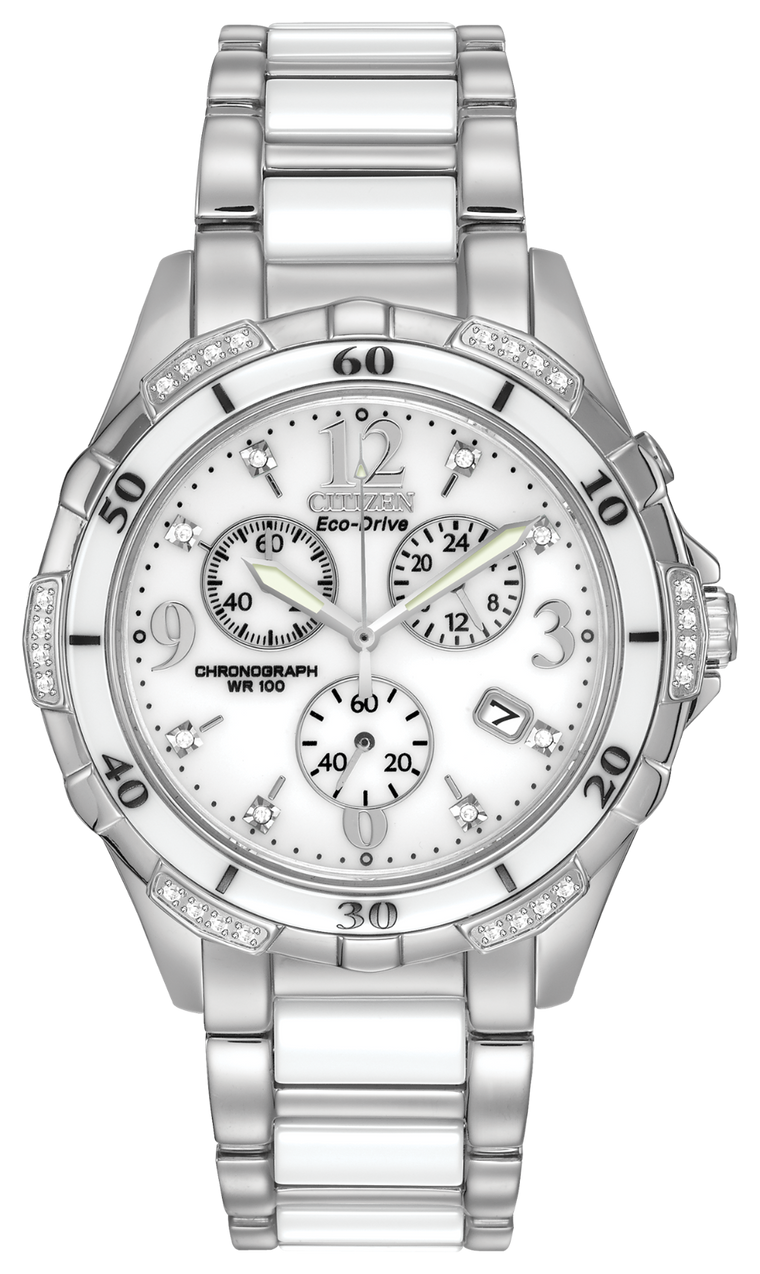 Citizen Silhouette Diamond Sport 40mm Watch with White Dial