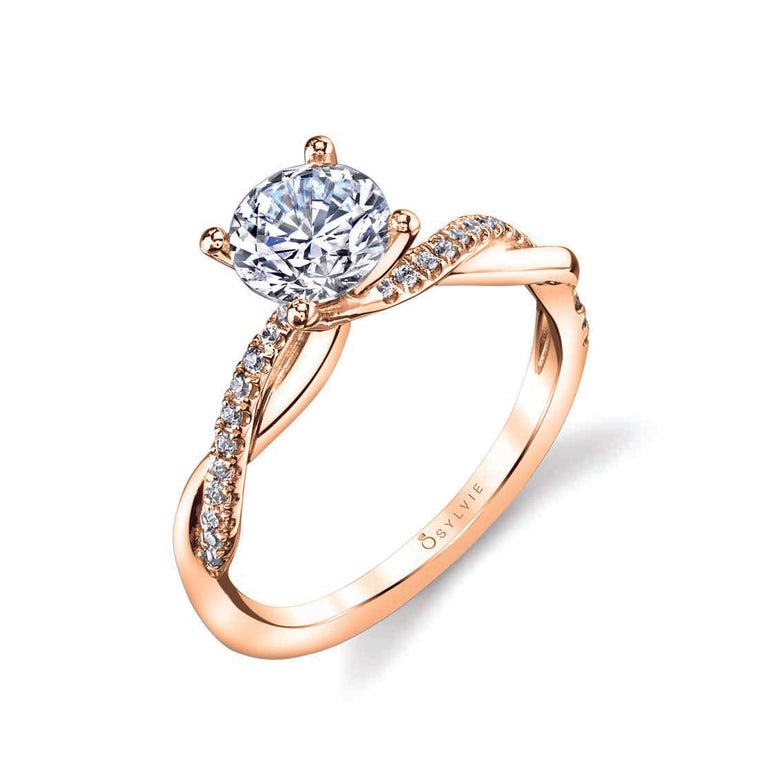 Sylvie Yasmine 14k Rose Gold Engagement Ring
