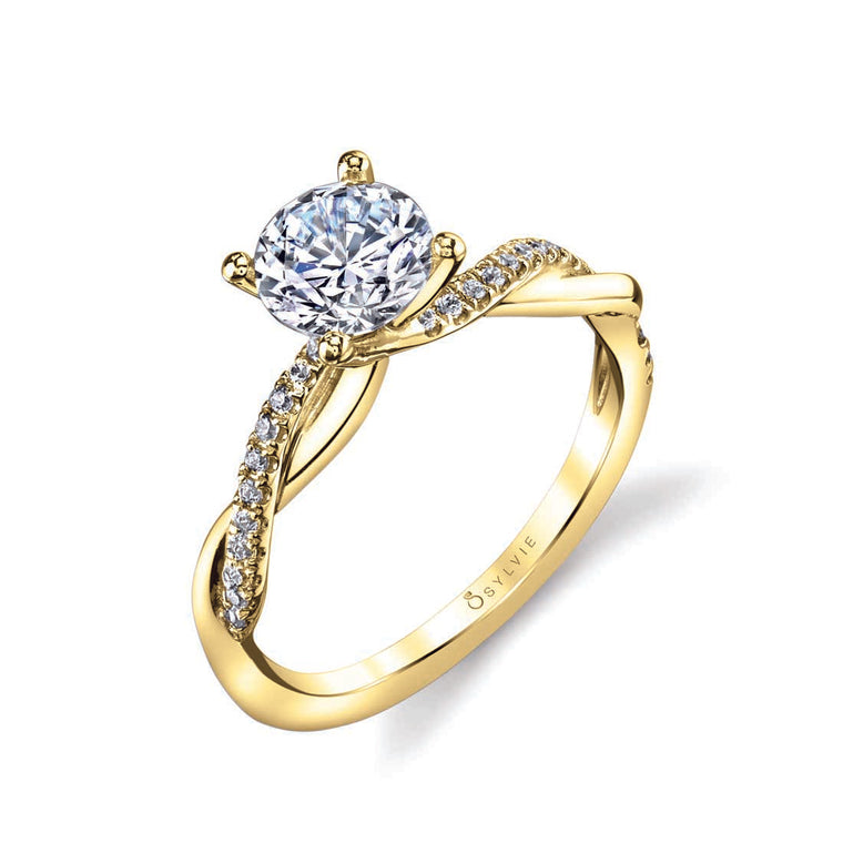 Sylvie Yasmine 14k Yellow Gold Engagement Ring