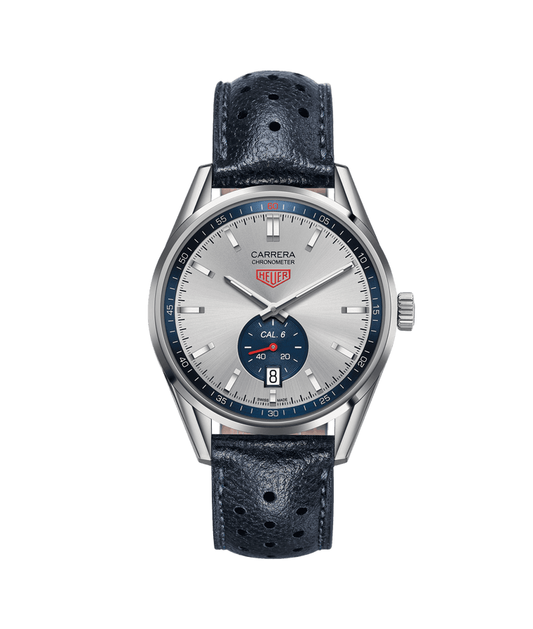 TAG Heuer Carrera 39mm Watch with Silver Dial