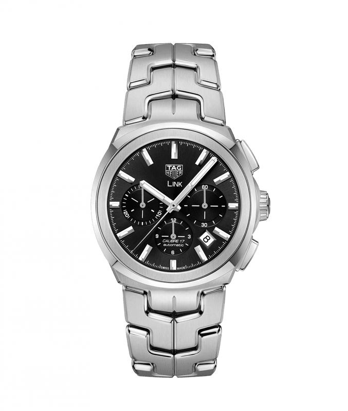 TAG Heuer Link Calibre 17 41mm Watch with Black Dial