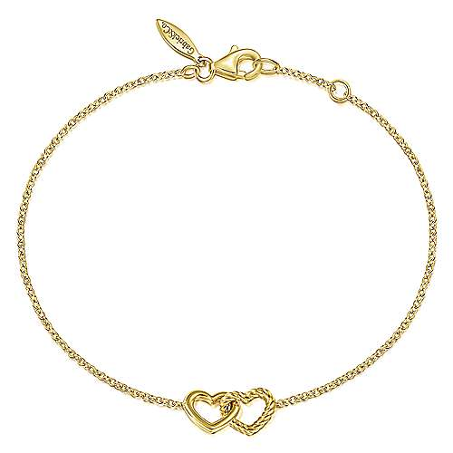 Gabriel & Co Double Heart Bracelet