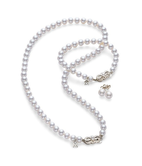 Mikimoto Akoya Cultured Pearl Three Piece Set