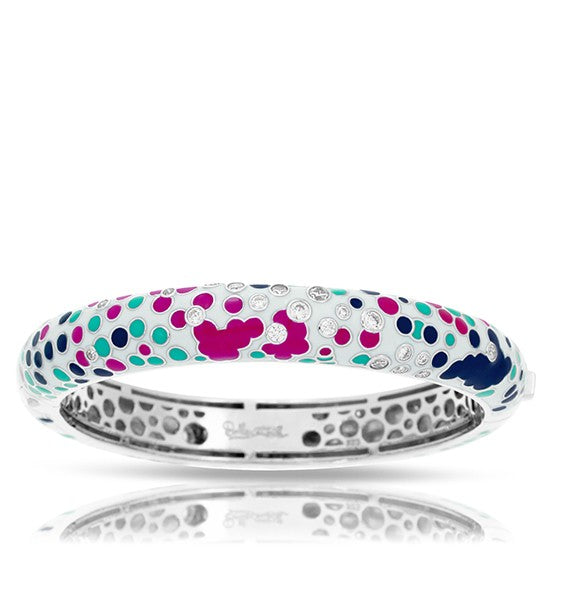 Belle Etoile Artiste White Bangle Bracelet
