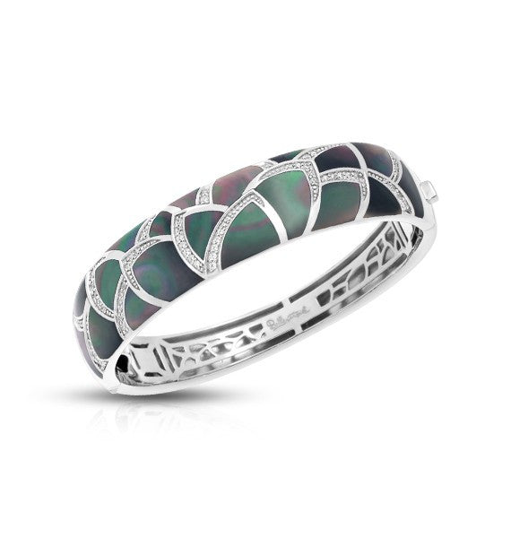 Belle Etoile Sirena Black Mother of Pearl Bangle