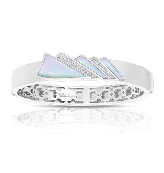 Belle Etoile Empire White Mother of Pearl Bangle