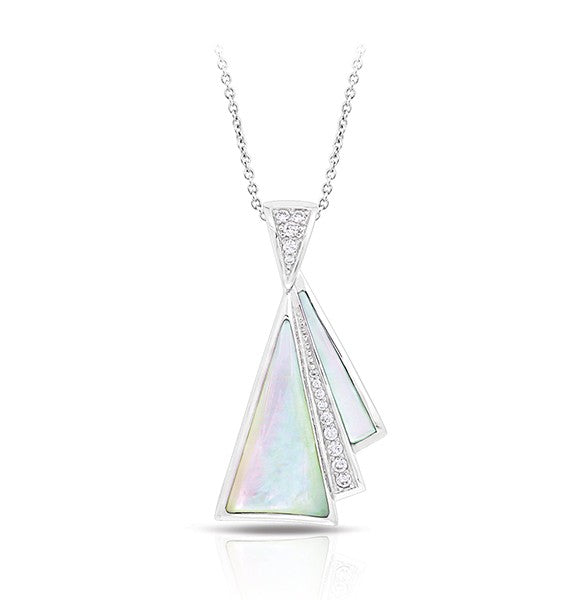Belle Etoile Empire White Mother of Pearl Pendant