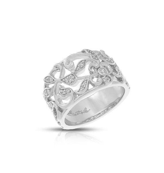 Belle Etoile Empress Silver Ring