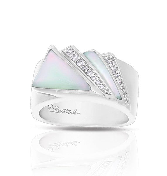 Belle Etoile Empire White Mother of Pearl Ring