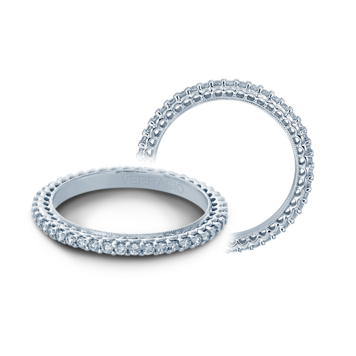 Verragio V-920 14k White Gold Wedding Band