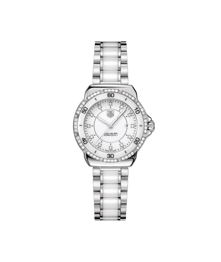 TAG Heuer Formula 1 32mm Ladies Watch with White Diamond Dial