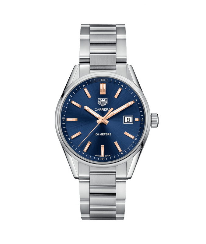 TAG Heuer Carrera Quartz 39mm Watch with Blue Dial