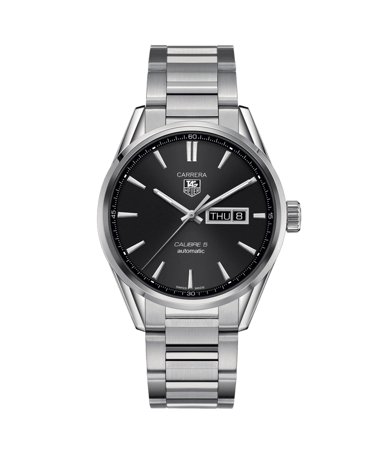 TAG Heuer Carrera Day and Date 41mm Watch with Black Dial