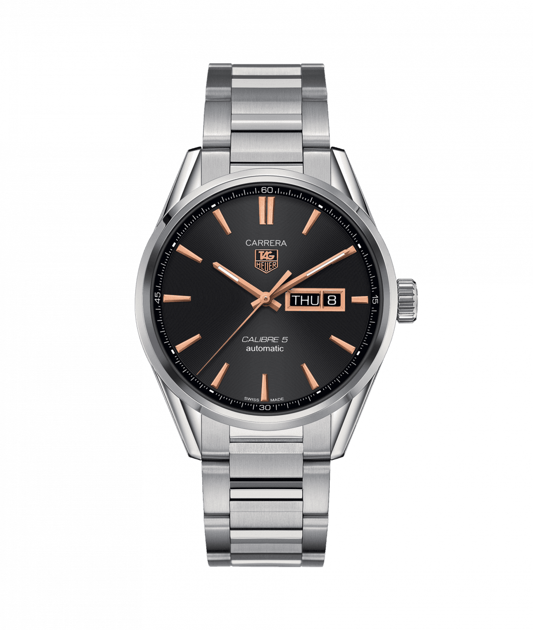 TAG Heuer 'Carrera' 41mm Day/Date Watch with Black Dial