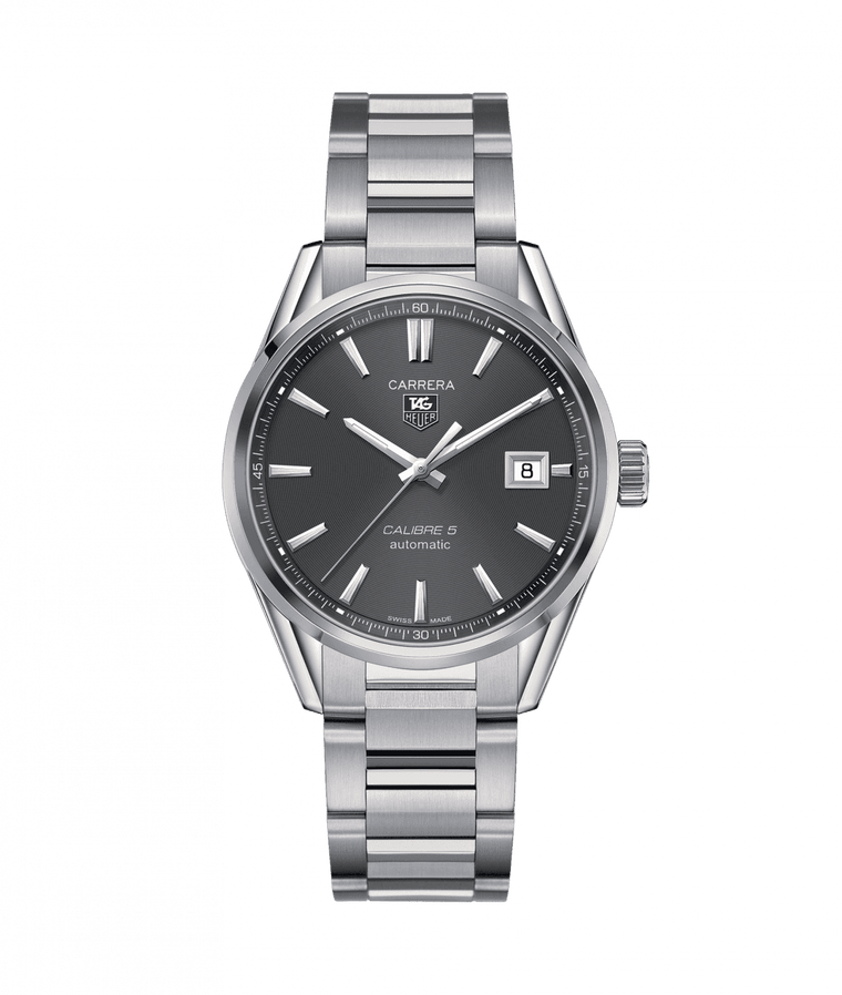 TAG Heuer 'Carrera' Quartz 39mm Watch with Grey Dial
